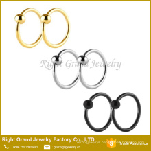 Stainless Steel Ball Closure Captive Bead Ring Nose Rings