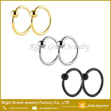 Edelstahl Kugelverschluss Captive Bead Ring Customized Bull Nasenringe