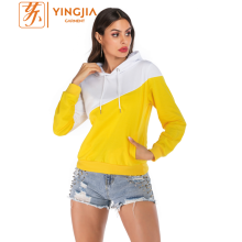 Custom Matching Women Color Block Long Sleeve Hoodies