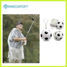 Bon cadeau promotionnel PE Raincoat Soccer Ball