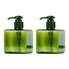 100Ml 250Ml 500Ml Transparent Clear Amber Black White Square Rectangular Plastic Cosmetic Soap Bottle With Dispenser Pump