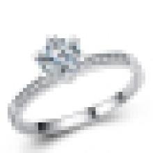 Damen 925 Sterling Silber Mode Hochwertiger Ehering