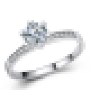Mulheres 925 Sterling Silver Moda Anel De Casamento De Alta Qualidade