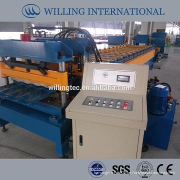 PPGI esmaltado azulejos rollo que forma la máquina WILLING Company