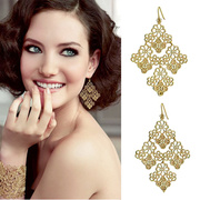 European and American fashion earrings product gold plated hollow out Bohemia temperament woman with earrings