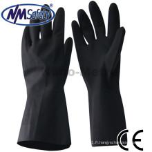 NMSAFETY gants en néoprène noir résistant aux produits chimiques