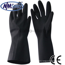 NMSAFETY chemical resistant black neoprene gloves