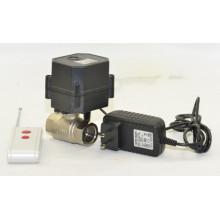 2 vías mini 1/2 pulgadas de control eléctrico de latón válvula de control remoto inalámbrico de la válvula de bola de agua motorizada (W15-B2-C)