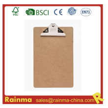 Cheap A4 Size MDF Clipboard with Butterfly Clip