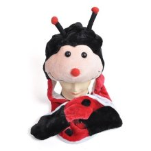 Ladybug Hat With Fur Paws And Scarf plush hat wholesale