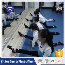 Pvc vinyl dance flooring con rebote y amortiguación