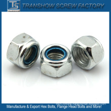 DIN 982 / DIN 985 Metal Nylon Insert Flange Lock Nuts M3 - M24