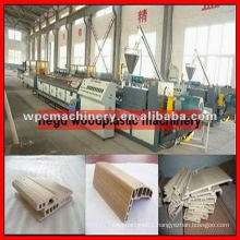 wpc wood plastic pvc window making machine
