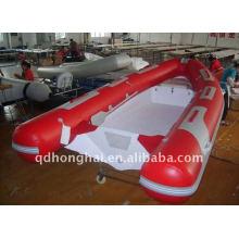 Yacht de luxe bateaux gonflables CE RIB420 en fibre de verre avec moteur hors-bord cabine