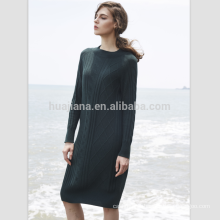 women's jacquard long cashmere dress