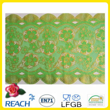 PVC Gold/Silver Color Table Runner/Long Lace (JFCD-013)