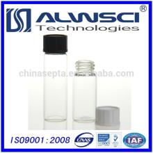 Klarglas-Aufbewahrungsfläschchen mit PTFE-gefütterter Schraubverschluss