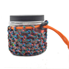 New Paracord Gear Pouch/ Bottle Holder half hitches Paracord Wrap Bottle for Survival