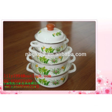 China 3pcs enamel pot sets kitchenware