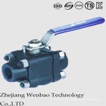 Válvula de bola de acero forjada de alta presión 3PC