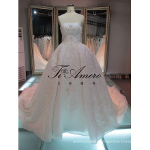 Berta Bridal High Quality Beaded Lace Guangzhou Wedding Dress/Real Photos Wedding Dresses