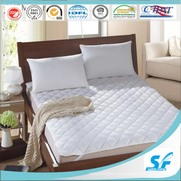 100% Algodón natural Cool y protector de colchón caliente
