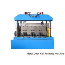 Máquina formadora de rollos para pisos de metal para vallas