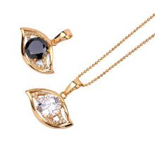 Colgante de joyería de moda Xuping plateado con oro de 18k