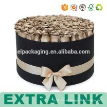 Impresión de cajas de papel redondas personalizadas de cartón para flores