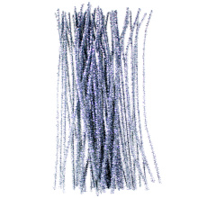 Silver Glitter Pipe Cleaners tinsel christmas decoration