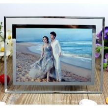 Requintado decoração home frame de retrato moldura de cristal
