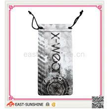 Digital Printing Microfiber Sunglass Drawstring Bag, Eyewear Bag