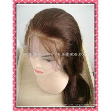 100 pelucas llenas del cordón del cabello humano remy indio estilo de la moda