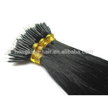 22 дюймов Nano бусины наращивание волос Реми человеческих волос