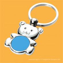 Porte-clés en forme d'ours animé cadeau promotionnel avec logo client (F1282B)