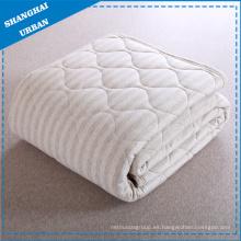 Manta de cama de algodón Manta de tela de rayas