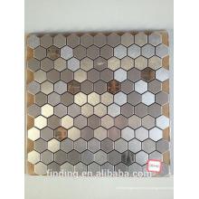 métal brossé carreaux de mosaïque de décoration d'intérieur