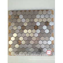 metal brushed interior decoration mosaic tiles