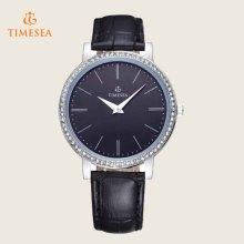Relógio De Couro Das Mulheres Decoração De Cristal Waterproof Digital Watch71148