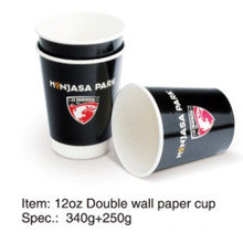 8oz doppelte Wand Kaffeetasse mit kundengebundenem Logo