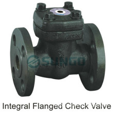 Forged steel integral flanged end check valve