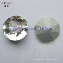 Pierre de verre pour bijoux et vêtements composants
