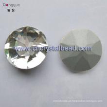 Pedra de vidro para bijuterias e componentes de vestuário