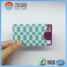 Kundenspezifische Aluminiumfolie Papier RFID Blocking Sleeve für Kreditkarte