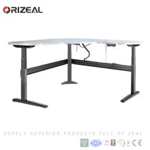 3 posiciones altura eléctrica ajustable siéntese el escritorio de oficina de elevación del ordenador derecho con diseño agradable