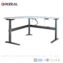 3 stages Electric height adjustable sit standing computer lifting office desk with nice design