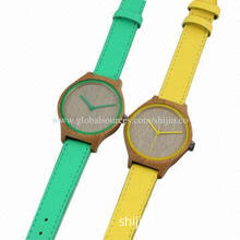 Simple style bamboo wooden watches for fashion people