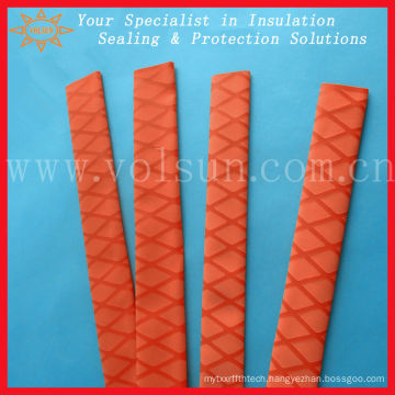 Nonslip heat red shrink tubing for fishing rod