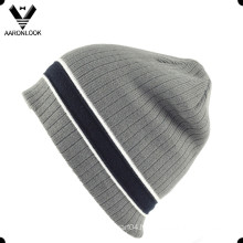 2016 Latest Stripe Knitted Men′s Fashion Beanie Hat