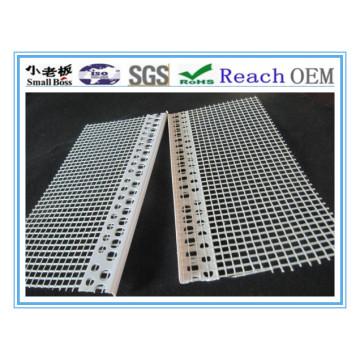 White PVC Corner Profile with Mesh